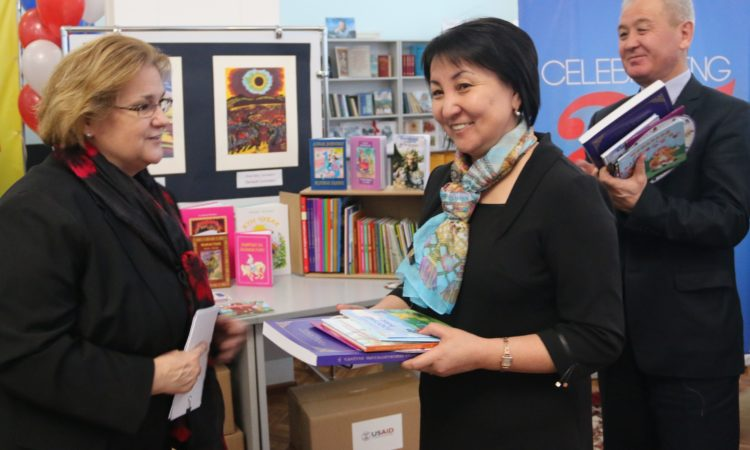 The United States Donates Over a Quarter Million Kyrgyz Language Early Grade Reading Books
