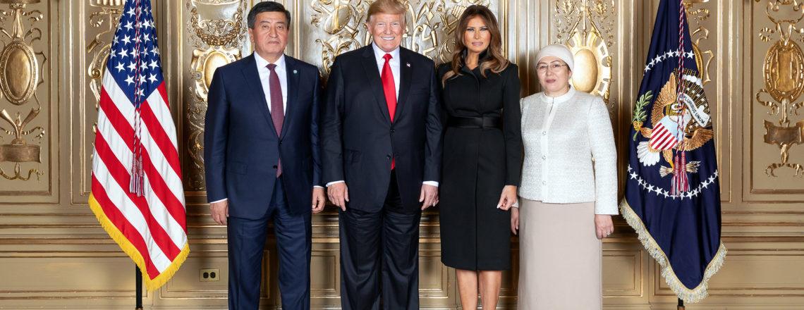 President Jeenbekov and First Lady Tokoeva meet U.S. President Trump